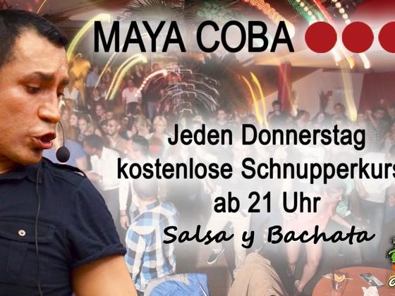 Jeden Donnerstag: Salsa-Schnupperkurs mit Salsaparty im Maya Coba